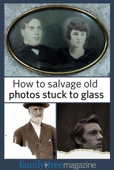 Don't throw away old photos stuck to glass picture frames! Learn how to save your old photos on FamilyTreeMagazine.com