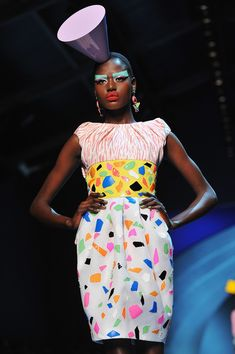 Christian Dior Haute Couture Fall/Winter 2011/2012 inspired by the Memphis Group
