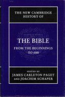 The New Cambridge history of the Bible Publicación	 Cambridge : Cambridge University Press, 2012-