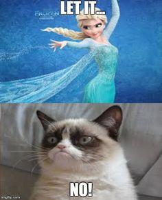 12 Best Grumpy Cat Frozen Images In 2014 Grumpy Cat