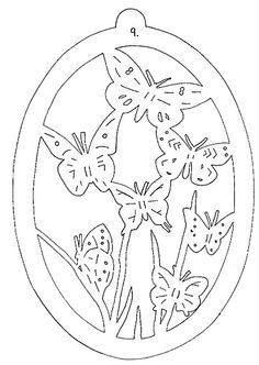 """Photo from album """"Filigrane Fensterbilder"""" on Yandex. Kirigami, Coloring Books, Coloring Pages, Stencils, Parchment Craft, Egg Art, Scroll Saw Patterns, Spring Crafts, Card Templates"""