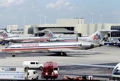 Classic Shot: Back to the 90's when the American Airlines' B727-223s were the kings on Miami.