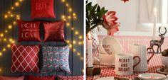 H & M Home - Natal tradicional na cor vermelha