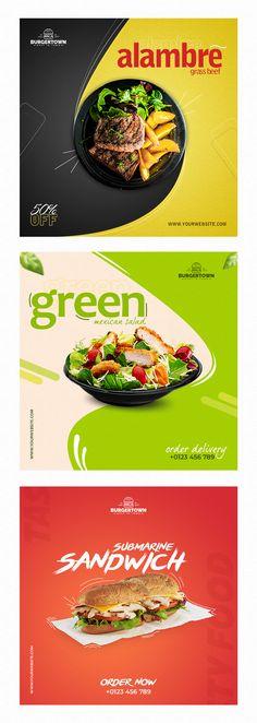 Food Poster Design, Food Design, Mexican Salads, Food Banner, Graphic Design Services, Graphic Design Inspiration, Banner Design, Platform, Social Media