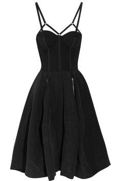 Looooove it <3 little black dress with full skirt and epic straps