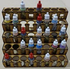 Wargames Scenery BNIB Paint Storage System Rack - 40 Vallejo / Warpaint size | eBay