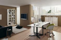 Home office design ideas - Some people can run a business from home or home for work and need a good home office. A traditional home office design provides sufficient workplace, ample storage and simple design elements.