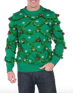 Discover the Men's Gaudy Garland Ugly Christmas Sweater. Explore items related to the Men's Gaudy Garland Ugly Christmas Sweater. Organize & share your favorite things (including wish lists) with friends. Ugly Sweater Contest, Ugly Sweater Party, Pullover Design, Sweater Design, Mens Ugly Christmas Sweater, Xmas Sweaters, Ugly Sweaters Diy, Funny Sweaters, Carnival