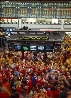 Business Executives On Trading Floor Photograph