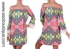 Stylish and vibrant, our lime print plus dress is a showstopper! Only $46.50! 1X, 2X, 3X! Click link to order now!  http://www.sscboutique.com/collections/new-arrivals/products/lime-off-shoulder-plus-dress  #plussize #offshoulder #printdress #crochet