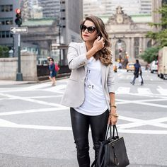 """""""Out of Office"""" tee from @bananarepublic, today's look on Corporate Catwalk"""
