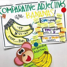 We're BANANAS for grammar!!! Annnnd Jane Goodall. ANNND chimpanzees!! We did all kinds of monkeying around this week with #rootedinreading…
