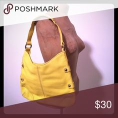 Jcrew leather shoulder bag Soft leather in fun bright yellow by Jcrew collection jCrew Bags Shoulder Bags