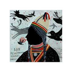 Sami Girl - Limited Edition Archival Inkjet (Giclée) Print by DianaSudyka on Etsy https://www.etsy.com/listing/169738156/sami-girl-limited-edition-archival