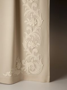 """""""Accacia"""" - Holland & Sherry Repeat from A to B: - 48 cm Width: 9 - cm. Luxury Curtains, Home Curtains, Curtains With Blinds, Window Curtains, Rideaux Shabby Chic, Window Bed, Curtain Call, Made To Measure Curtains, Passementerie"""