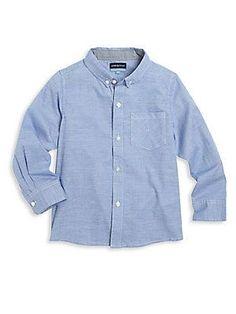 Andy & Evan Toddler's & Little Boy's Cotton Shirt - Blue - Size