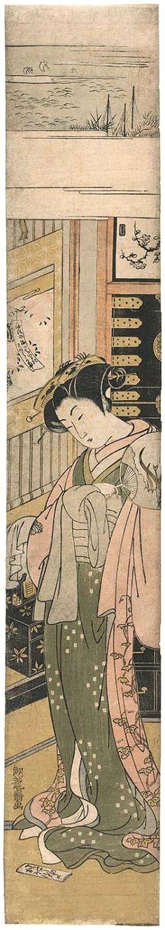 Koryusai Isoda / Kaoru vom Chojiya