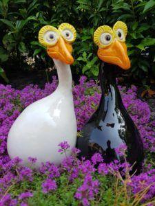 Vogels keramiek zwart en wit