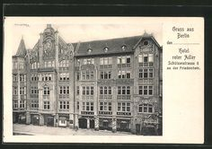 Old postcard: AK Berlin, hotel red eagle, Schützenstraße 6 an der Friedrichstraße
