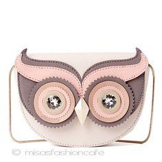 "mfcafe-japan: Kate spade Kate spade OWL bag OWL ""blaze a trail owl crossbody. Modeling Clay Recipe, Owl Purse, Brighton Handbags, Palm Beach Sandals, Owls, Saddle Bags, Machine Embroidery, Kate Spade, Product Launch"