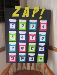 ZAP Game - a fun way to encourage all kids to participate - as the winner could be anyone in the end!