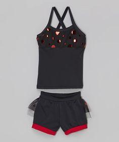 Black & Red Polka Dot Tank & Ruffle Shorts - Toddler & Girls #zulily #zulilyfinds   Lexi-Luu Designs $42.99