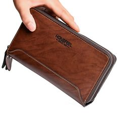 Vintage PU Leather Double Zipper Clutch Bag Long Wallet For Men is hot-sale, many other cheap clutch bags on sale for men are provided on NewChic. Phone Wallet, Phone Card, Coin Bag, Bag Sale, Black And Brown, Pu Leather, Zip Around Wallet, Floral Prints, Man Shop