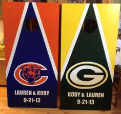 Custom Made Corn hole Boards - These Cornhole boards are handcrafted, handpainted and custom made for each of our customers and meet the Cornhole Association specifications. Free set of cornhole bags are also provided for $169.99. They make great gifts for anyone for any occasion! We love custom orders and will make your team,  theme or wedding. Contact us at www.fscustomcraftscreations.com.
