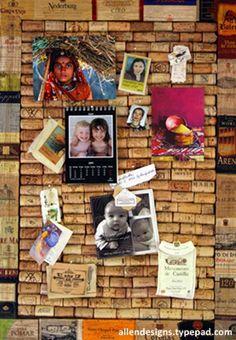 panel de corcho para colgar fotos, notas...