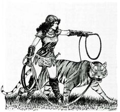 Girl / The Tigress (Larry Elmore)