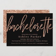 Glitter Bachelorette Party, Sweet Sixteen Invitations, Bachelorette Party Invitations, Gold Wedding Invitations, Bridal Shower Invitations, Birthday Invitations, Gold Bridal Showers, Wedding Envelopes, Rose Gold Glitter