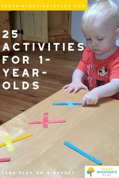 25 easy to prep activities for tabies. The term 'Taby' is used to describe a child who is not quite Young Toddler Activities, Baby Learning Activities, Activities For 1 Year Olds, Toddler Play, Montessori Activities, Infant Activities, Activities For Kids, 1 Year Old Games, Toddler Daycare