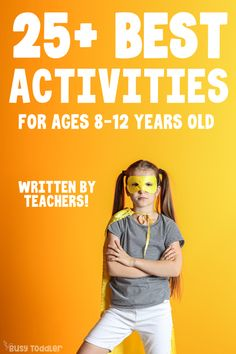 Need some activities for kids ages 8 - 12 years old? Check out this list of 25 ideas created by teachers to help kids who are out of school, stuck at home. Kids Activities At Home, Date Activities, Babysitting Activities, Montessori Activities, 8 Year Old Girl, 12 Year Old, Boredom Busters For Kids, Activity Days, Summer Camp Games