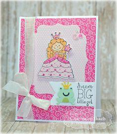 Dream Big Card by Charmaine Ikach #Cardmaking, #TEMatched, #Birthday, #LittleBitsDies, #TE, #ShareJoy