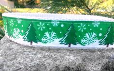 Winter Green 1 Inch Width Dog Collar by WillyWoofs on Etsy