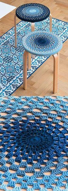Crochet Free Crochet Pattern for a Stool Cover.crochet pattern for for a stool - Free Crochet Pattern for a Stool Cover. Skill Level: Easy Easy granny stitch stool cover to crochet. Free Pattern More Patterns Like This!This crochet stool cover is suc Beau Crochet, Crochet Diy, Crochet Pillow, Crochet Home, Crochet Crafts, Crochet Stitches, Crochet Projects, Tunisian Crochet, Blanket Crochet