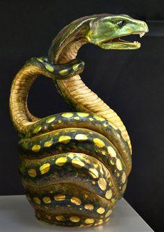 * Zsolnay, Pécs, Eosin-Glaze Decorated Earthenware Vase.