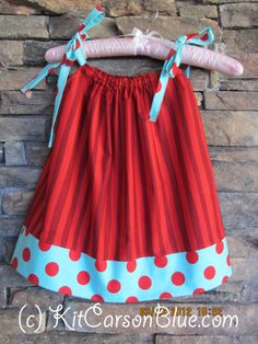 Darling Pillow Case Dress and Optional Matching by kitcarsonblue, $25.00