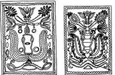 Bánffyhunyadi zöldmázas csempék (v. Kolozs m.) Hungarian Embroidery, Clay Art, Embroidery Patterns, Folk Art, Stencils, Pottery, Rugs, Cards, Inspiration