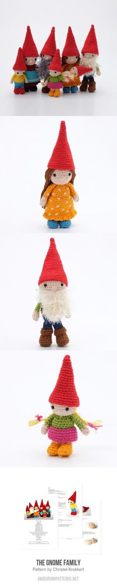 The Gnome Family amigurumi pattern