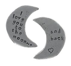 Crosby & Taylor - pewter token - Love you to the Moon and Back