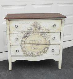 Hand painted vintage dresser.