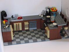 Legos, Lego Kitchen, Lego Furniture, Lego Activities, Lego Room, Lego Models, Lego House, Art Pics, Lego Stuff