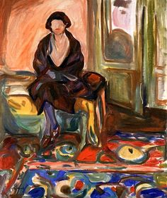 "terminusantequem: ""Edvard Munch (Norwegian, 1863-1944), Model Seated on the Couch, 1920-21. Oil on canvas, 105 x 85,5 cm """