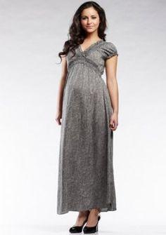 de maternité - rayures noires recueillies robes de soirée de maternité