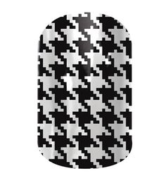 Black and White Houndstooth | Nail wraps by Jamberry Nails #BlackWhiteHoundstoothJN