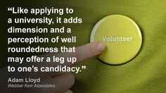 Importance of adding voluntary work to cv