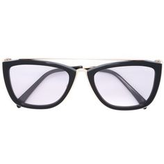 c44858e1f6a6 Emilio Pucci Square Frame Glasses (970 CNY) ❤ liked on Polyvore featuring  accessories