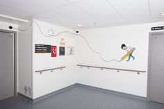 Peepshow image makers Andrew Rae and Chrissie Macdonald have collaborated to create a mixed media installation designed to engage children as they travel from ward to operating theatre at a London hospital