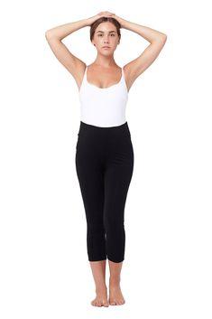 4c834d56498 Ripe Maternity Basic 3 4 Cotton Maternity Legging in Black